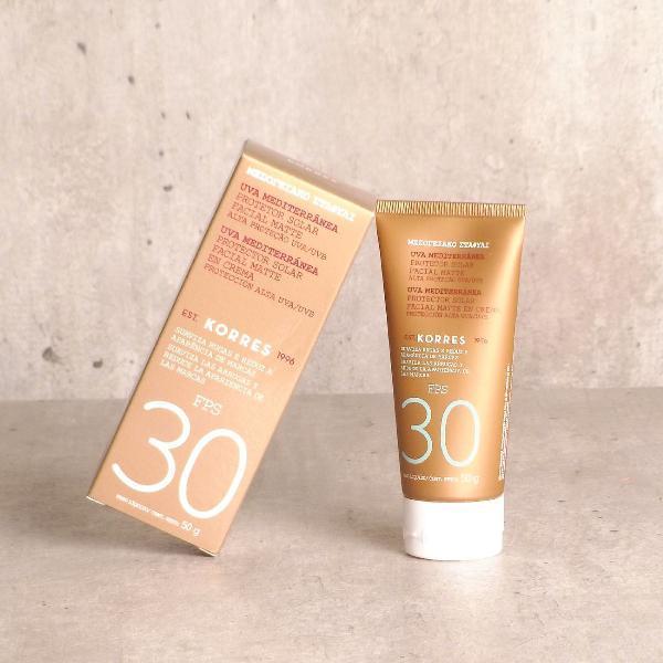 Protetor solar facial korres uva mediterrânea fps 30