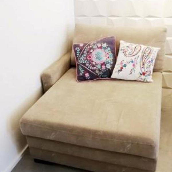 Sofá/chaise retrátil prima linea tecido (brasilia)