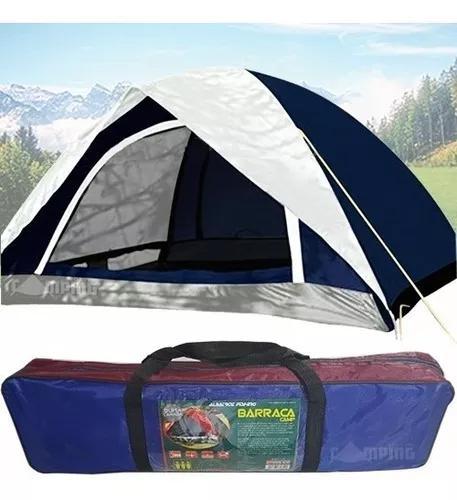 Barraca acampamento impermeável 3 pessoas camping 1500mm