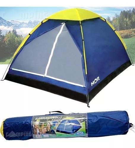 Barraca camping iglu 3 pessoas mor 9034 - versátil
