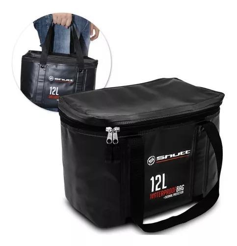 Bolsa térmica 12 litros shutt bag impermeável preta