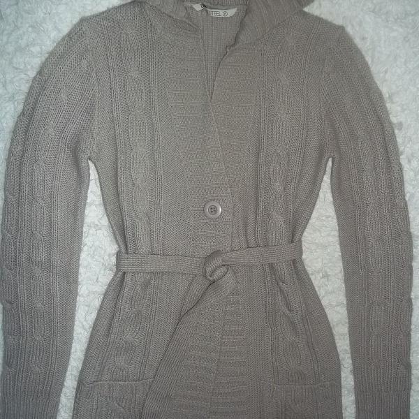Cardigan tricot blue steel