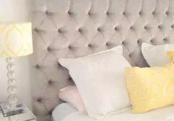 Cabeceira estofada para cama box casal padrão