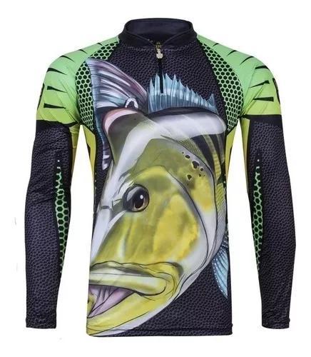 Camisa camiseta pesca king proteção uv kff107 - tucunaré