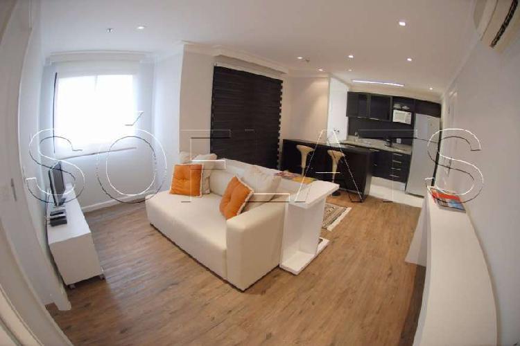 Flat com 1 quarto para alugar, 43 m² por r$ 2.784/mês cod.