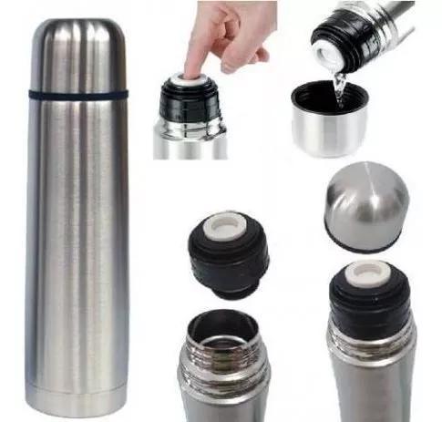 Garrafa térmica 750ml aço inox inquebrável com vacuum top