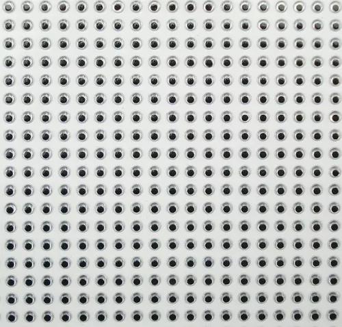 Kit com 1 cartela c/50 olhos p/ iscas artificiais 5/6/7mm