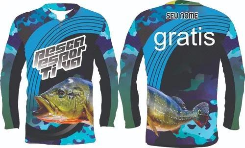 Kit duas camiseta camisa pesca uv50 r.05 tucunare