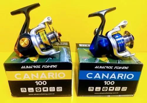 Kit pesca 2 micro molinetes albatroz canario 100 pequeno kit