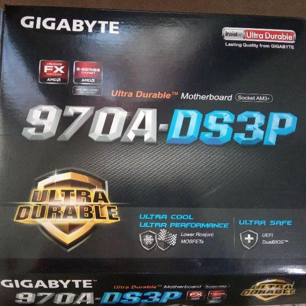 Kit com placa mãe gigabyte 970a + processador fx4300 + ram