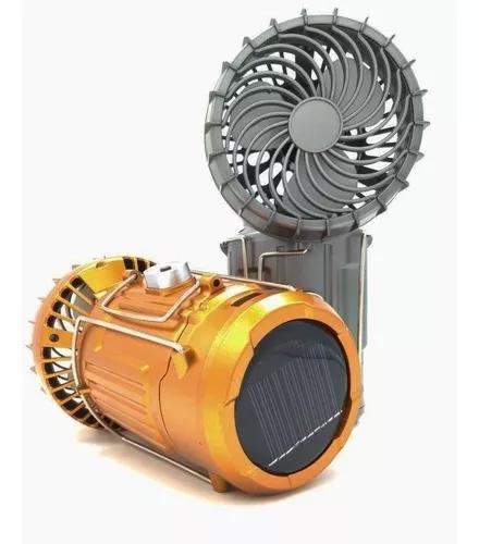 Lampião led lanterna recarregavel c ventilador solar