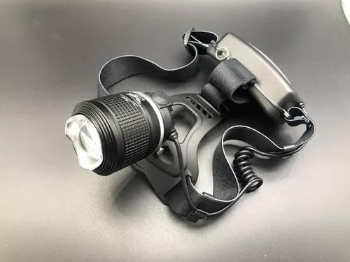 Lanterna de cabeça led t6 cree c/ zoom recarregavelpolicial