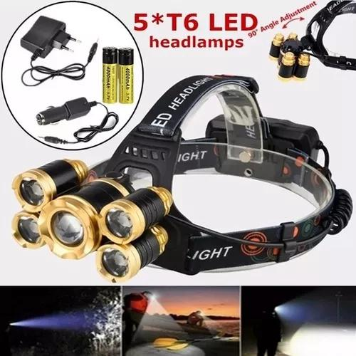 Lanterna farol de cabeça 05 ledcree t6 - pesca bike
