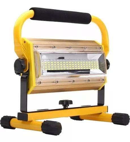 Lanterna holofote led recarregavel 100 watts - longo alcance