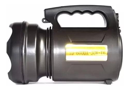 Lanterna holofote recarregável led alta potência 30w t6 td