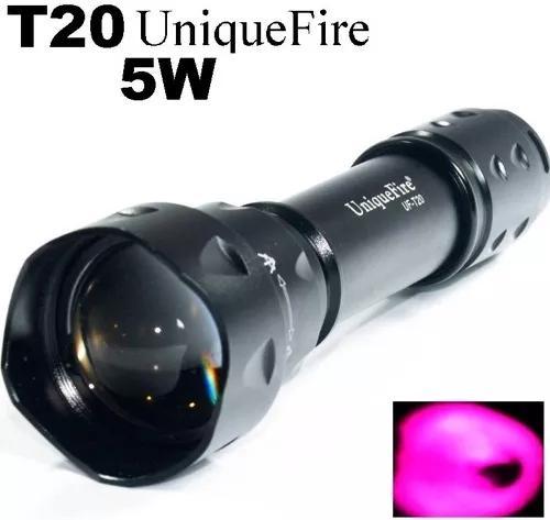 Lanterna infravermelho t20 850nm uniquefire 5w vastifire 7w