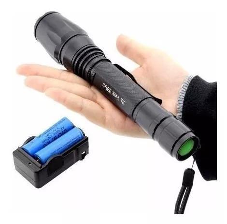 Lanterna tática swat 108000 lumens com led t6 o mais