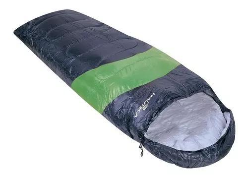 Saco de dormir viper 5º á 12ºc - preto/verde - nautika
