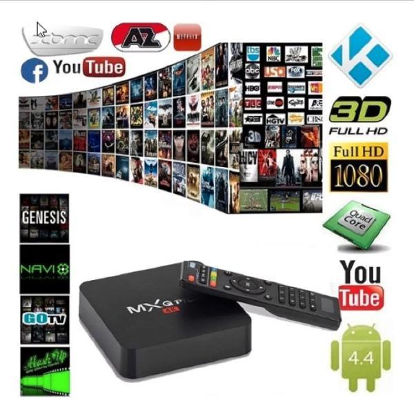 TV Box MXQ PRO 4K kodi configurado 4000 canais filmes e