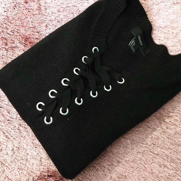 Blusa de lã manga comprida