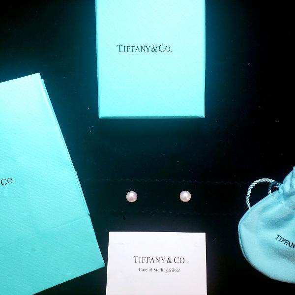 Brincos de pérola tiffany - ziegfeld collection