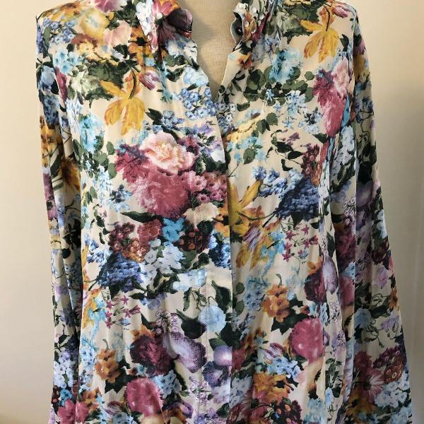 Camisa floral algodão barreds tam m