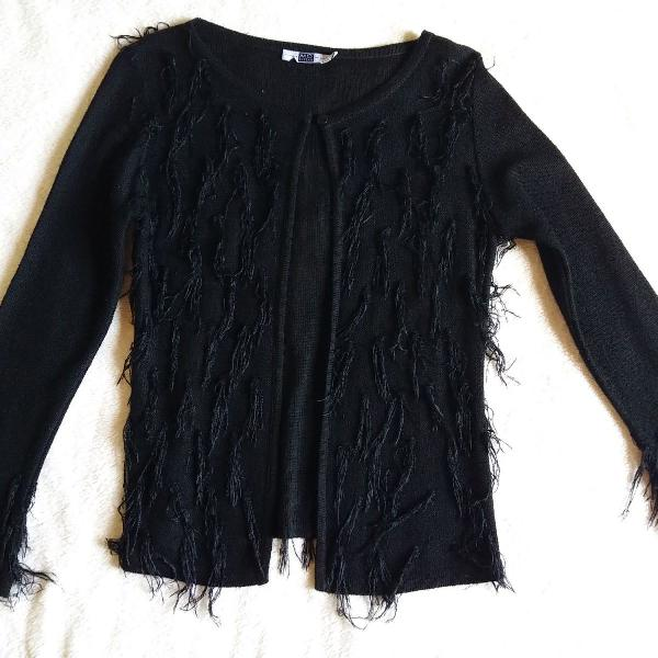Cardigan preto fashion