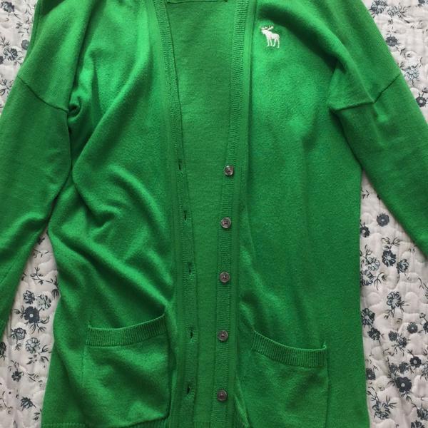 Cardigan verde abercrombie