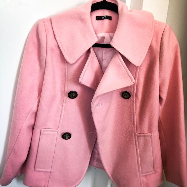 Casacão rosa bebê