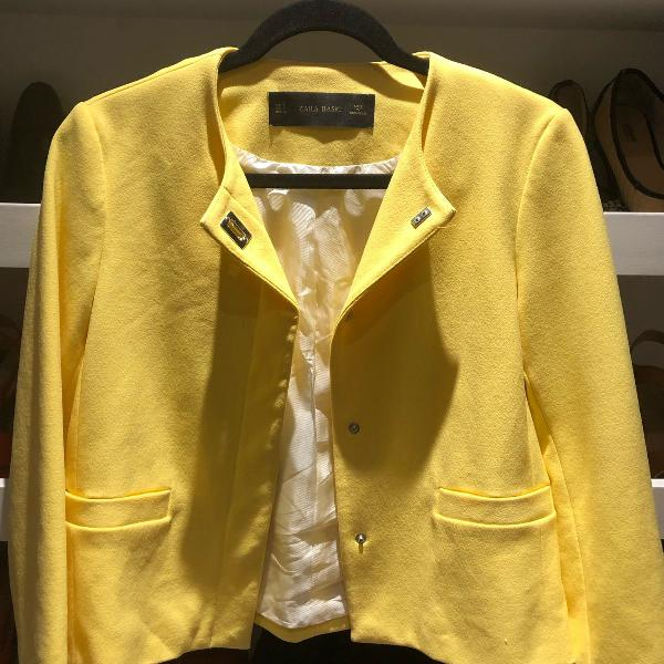 Casaco zara amarelo