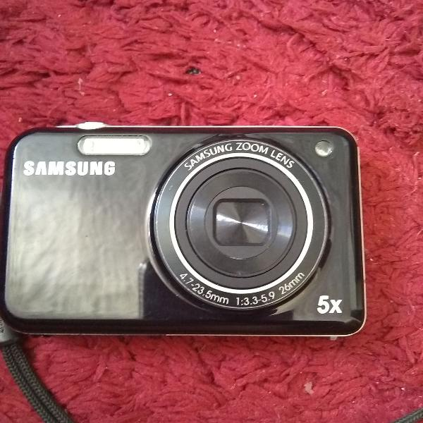 Câmera samsung digital + mini tripé flexível