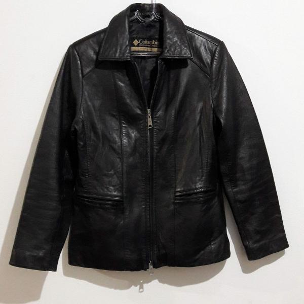Jaqueta de couro columbia