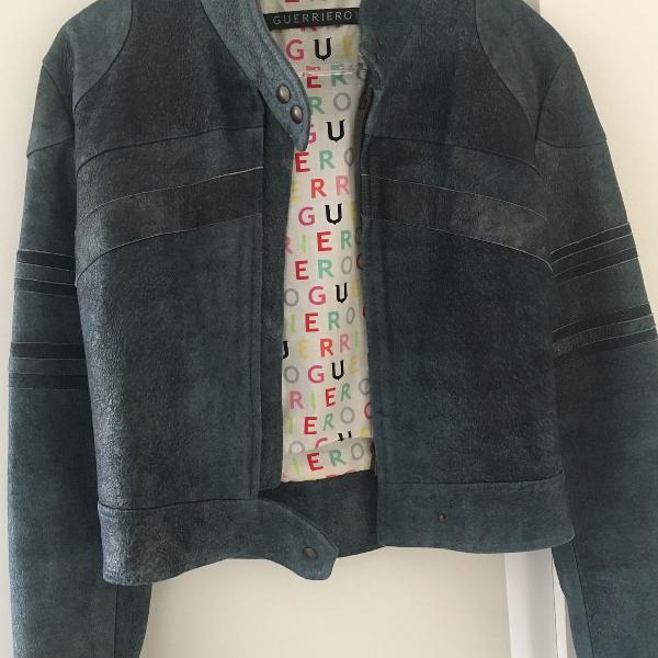 Jaqueta de couro marca italiana