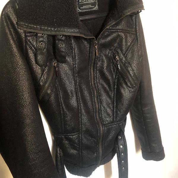 Jaqueta estilo couro sintético m. officer
