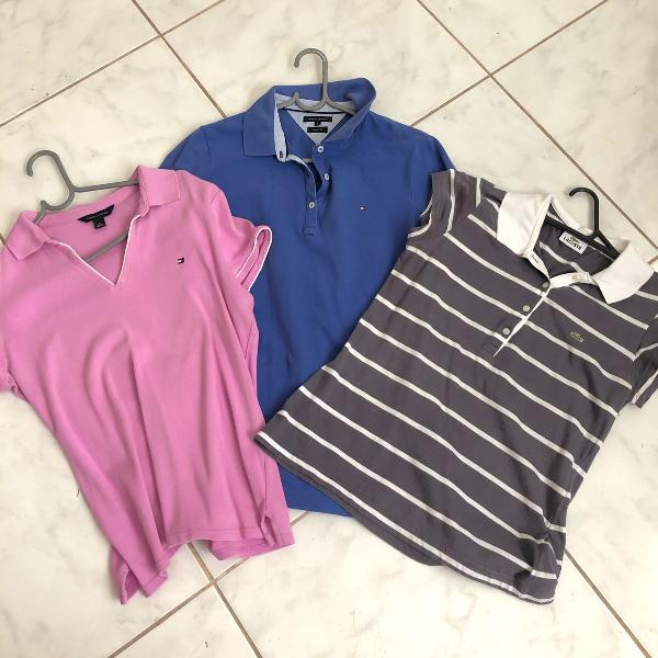 Kit camisas polos tommy hilfiger , lacoste tam.m