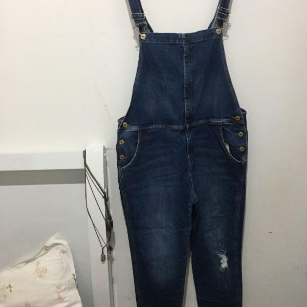 Macacão jeans longo