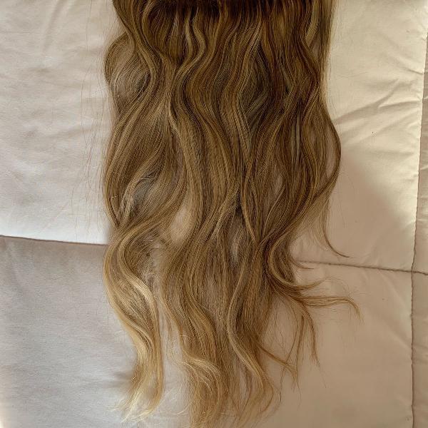 Mega hair 2 faixas com presilha