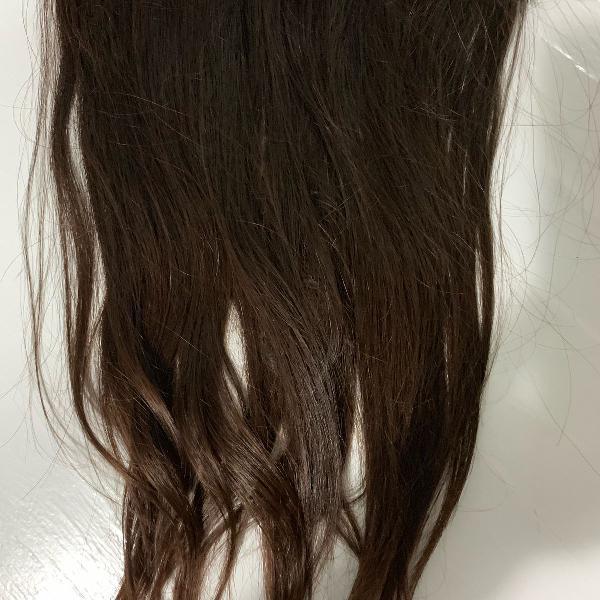 Mega hair cabelo natural na cor castanho