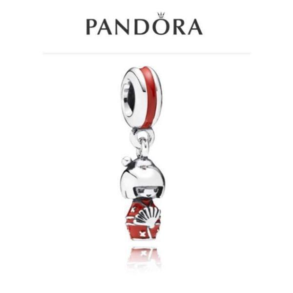 Pandora charm prata de lei kokeshi japonesa - serve para