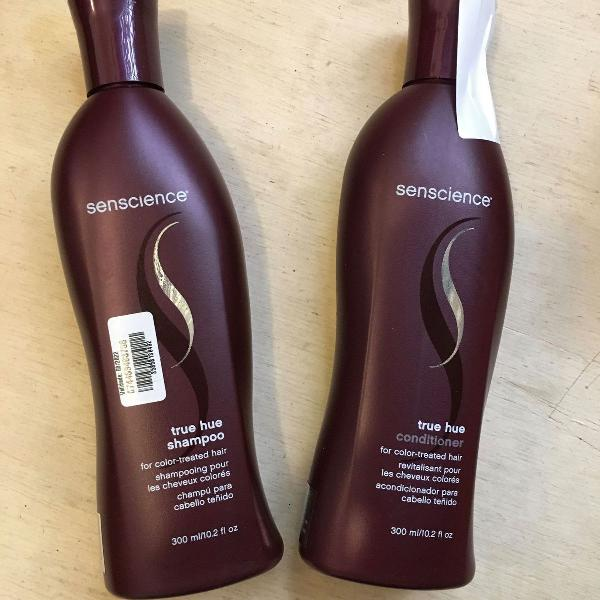 Senscience true hue kit shampoo condicionador cabelos