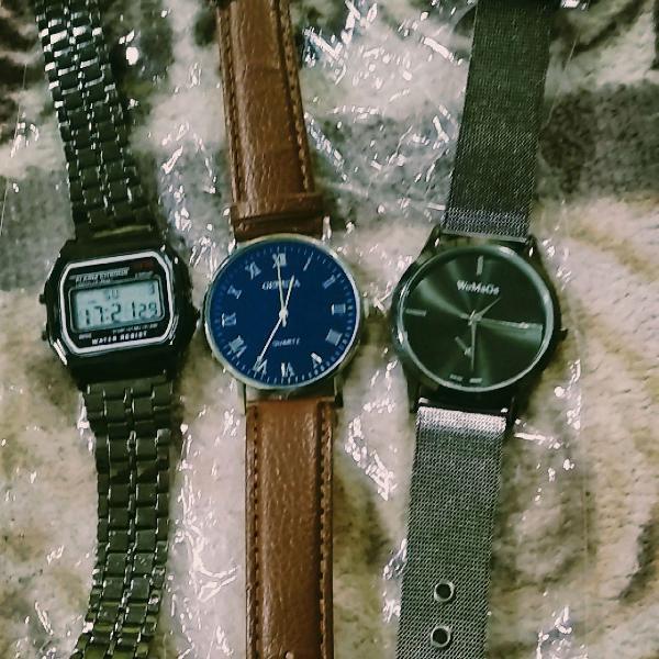 Trio de relógios