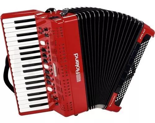 Acordeon digital roland fr4x rd elétrico vermelho com bag