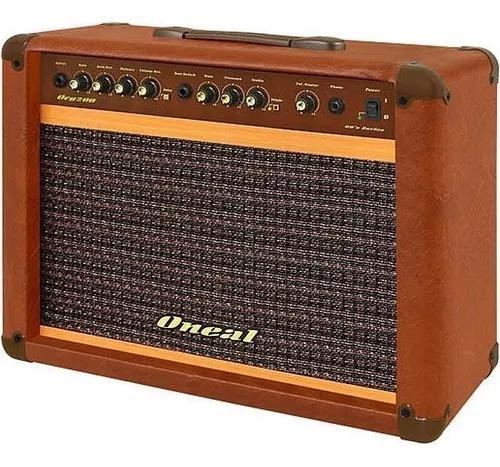 Amplificador 60w para guitarra ocg200 marrom oneal.