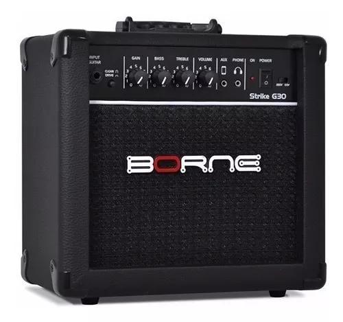 Amplificador borne g30 preto para guitarra + brinde
