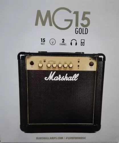 Amplificador caixa de guitarra marshall mg 15 cf gold