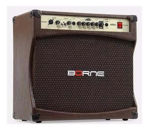 Amplificador cubo borne violão acústico 100w infinit