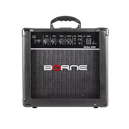 Amplificador cubo guitarra borne g-30 15 watts cor preto