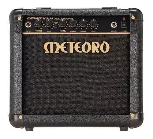 Amplificador cubo meteoro mg15 com distorção guitarra