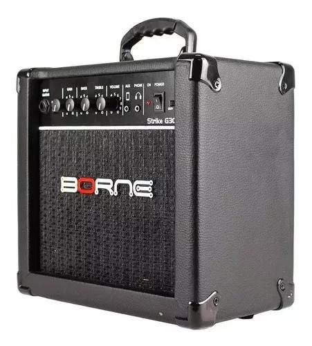 Amplificador cubo para guitarra borne g30 preto c/