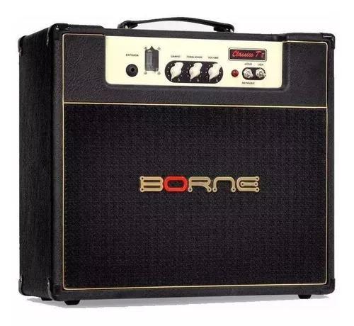 Amplificador guitarra borne valvulado clássico t7 preto